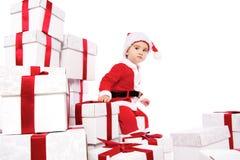 costume santa claus ребёнка Стоковая Фотография RF