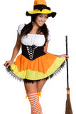 Costume sexy della strega fotografie stock libere da diritti