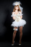 Costume of sexy wedding doll image Royalty Free Stock Image