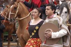 Costume tipico Cile Fotografia Stock