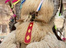 Costume traditionnel de carnaval annuel de Cerknica en Slovénie Image stock