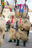 Costume traditionnel de carnaval annuel de Cerknica en Slovénie Photos libres de droits