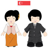Costume traditionnel de Singapour Photo libre de droits