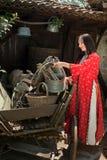 Costume tradizionale bulgaro Fotografia Stock