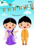 Costume tradizionale dell'India Immagini Stock Libere da Diritti
