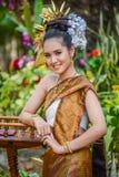 Costume tradizionale di nordest tailandese del ` dei ballerini di Phutai Fotografia Stock Libera da Diritti