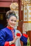 Costume tradizionale di nordest tailandese del ` dei ballerini di Phutai Fotografia Stock