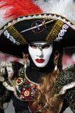 Costume veneziano di carnevale Fotografia Stock