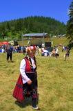 Costume woman at Bulgarian Fair Stock Photography