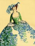 Costume XVIII век Стоковые Фотографии RF