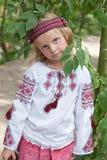 costume2女孩乌克兰语 图库摄影