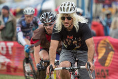Costumed Bicycle Racer - Paul LaCava Stock Image