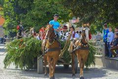 Costumed carnival celebration in the village Stock Photo