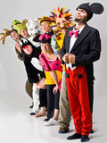 Costumed Characters. An assorted cast of entertainment characters in costumes Stock Image