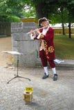Costumed fletowy gracz Zdjęcia Stock