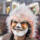 Costumed fox carnival Zurich royalty free stock photos