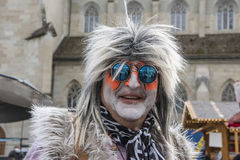 Costumed Hippie. On carnival in Zurich Stock Photos