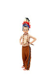 Costumed Indian Brave Royalty Free Stock Image