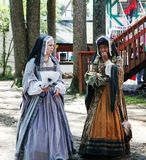 Costumed Ladies Maryland Festival Royalty Free Stock Photos
