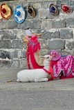 Costumed lamy zdjęcia royalty free