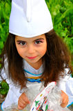 Costumed little girl. Little cute girl costumed portrait Royalty Free Stock Images