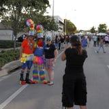 Costumed ludzie Pozować Obrazy Royalty Free