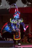 Costumed and masked Chinese dancer, Chinese New Year stock photo