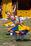 Costumed monks perform traditional dance at Dragon Festival Royalty Free Stock Photography