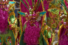 Costumed Morenada dancer at the Oruro Carnival in Bolivia Royalty Free Stock Photos
