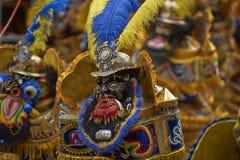 Costumed Morenada dancers at the Oruro Carnival in Bolivia Stock Photos