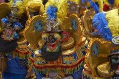 Costumed Morenada dancers at the Oruro Carnival in Bolivia Stock Images