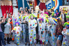 Costumed people in carnival Royalty Free Stock Image