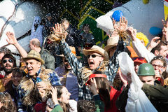 Costumed people in carnival Stock Photography