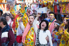 Costumed people in carnival Royalty Free Stock Photos