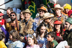 Costumed people Royalty Free Stock Image