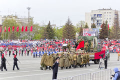 Costumed presentation in honor of annual Victory Day Stock Photography