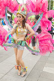 Costumed revelers march with floats in the annual Dream Parade o Stock Photos