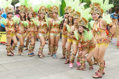 Costumed revelers march with floats in the annual Dream Parade o. N October 19, 2013, in Taipei, Taiwan Stock Photo