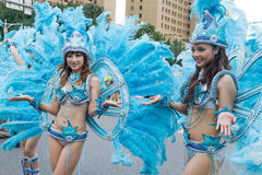 Costumed revelers march with floats in the annual Dream Parade o. N October 19, 2013, in Taipei, Taiwan Stock Images