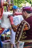Costumed vendors  ice cream i Royalty Free Stock Image