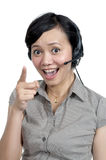 Costumer Service Agent Stock Photography
