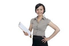 Costumer Service Agent Stock Photo