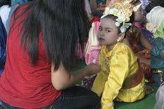 COSTUMES CHILDREN IN DAY CELEBRATION KARTINI Stock Photo