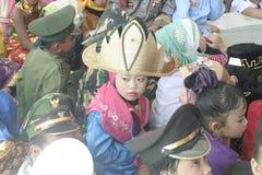 COSTUMES CHILDREN IN DAY CELEBRATION KARTINI Stock Photos