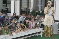 COSTUMES CHILDREN IN DAY CELEBRATION KARTINI Royalty Free Stock Photo
