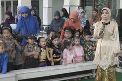 COSTUMES CHILDREN IN DAY CELEBRATION KARTINI Royalty Free Stock Photo