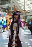 Costumes de Cosplayers et accessoires de mode de port à l'Anime Exp Photos libres de droits