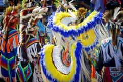 Costumes de plume de natif américain Photo stock