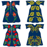 Costumes de sultan de tabouret, caftans classiques de tabouret Photos libres de droits