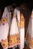 Costumes folkloriques dans le musée dans Cicmany, Slovaquie Photo stock